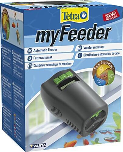 tetra myfeeder futterautomat f r zierfische im aquarium anthrazit inklusive batterien. Black Bedroom Furniture Sets. Home Design Ideas
