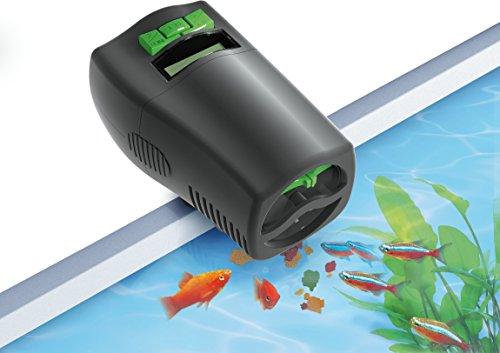 Tetra myFeeder Futterautomat für Zierfische im Aquarium, anthrazit, inklusive Batterien -