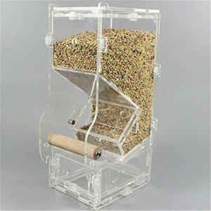 huuation Pet Bird Feeder Supplies kleinen Käfig Feeder-Parrot integrierter Futterautomaten Food Container - 2