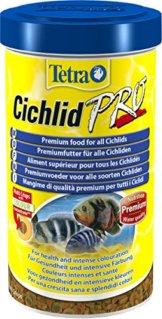 Tetra Cichlid Pro Premiumfutter (für Cichliden mit natürlichen Farbverstärkern, minimale Wasserbelastung, geeignet für Futterautomaten), 500 ml Dose - 1