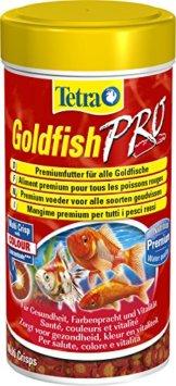 Tetra Goldfish Pro Premiumfutter (für alle Gold- und andere Kaltwasserfische,  Nährstoffe und Krill zur natürlichen Verstärkung der Farbenpracht, geeignet für Futterautomaten), 250 ml Dose - 1
